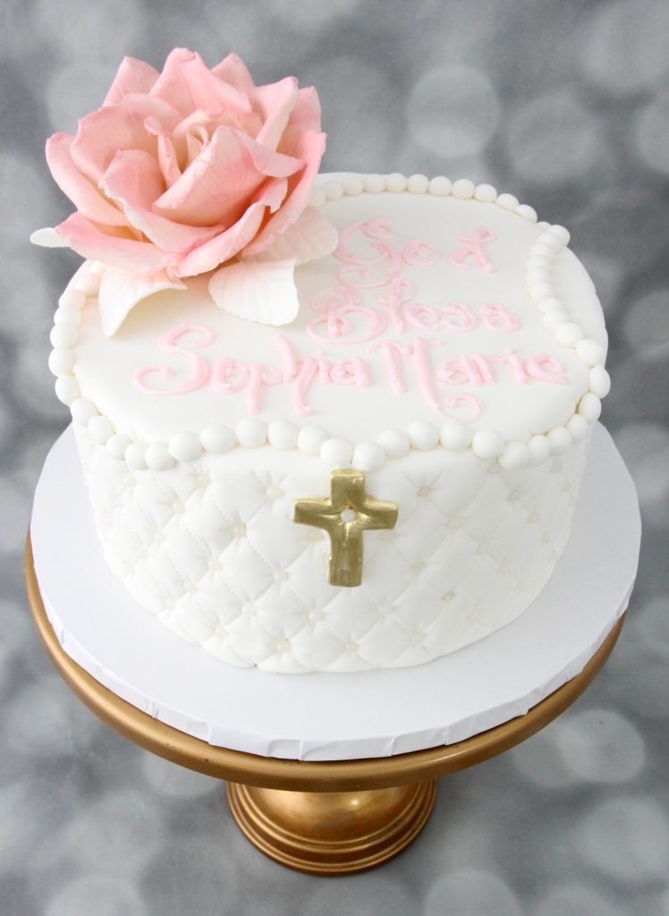 fondant quilting for with rosary for religious ceremonies