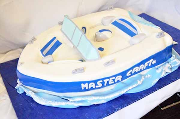 speed boat cake blue mastercraft specialty nj
