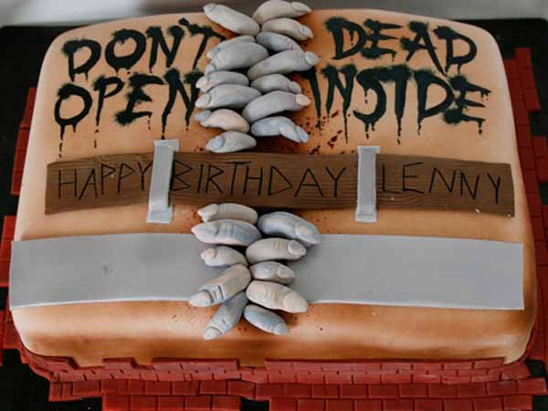 don't open dead inside birthday halloween cake