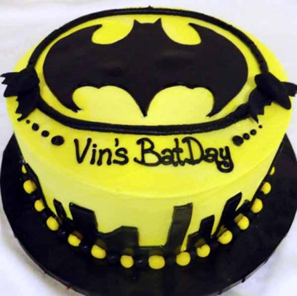 batman round cake