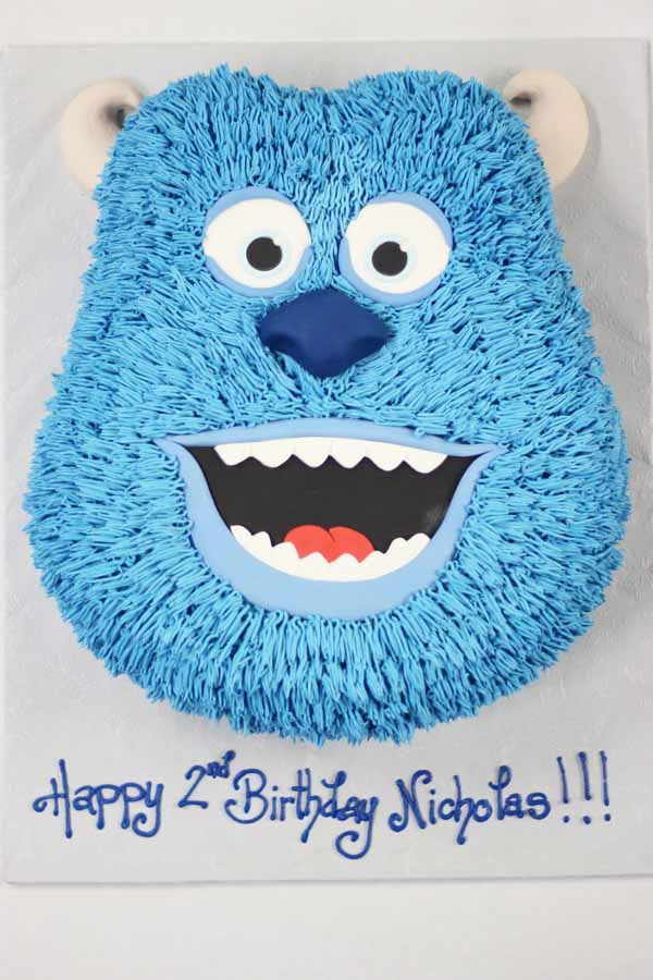 monsters inc sulley cake