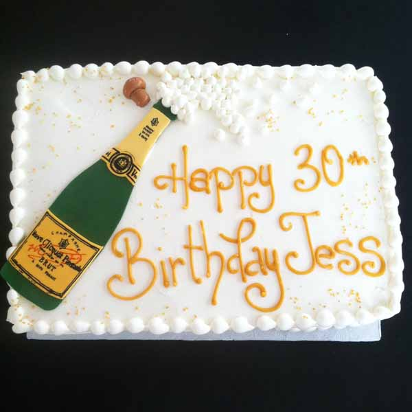 champagne bottle sheet cake