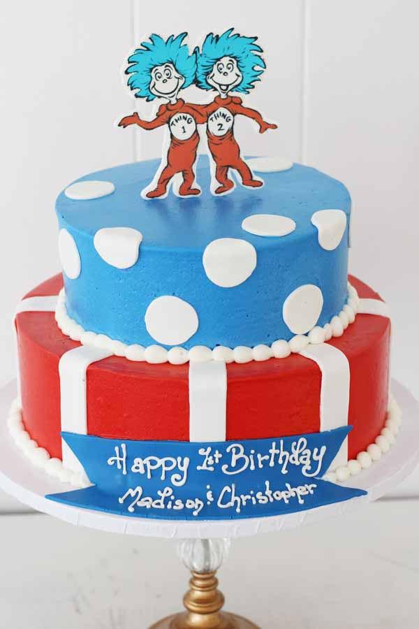 thing 1 thing 2 dr seuss cake