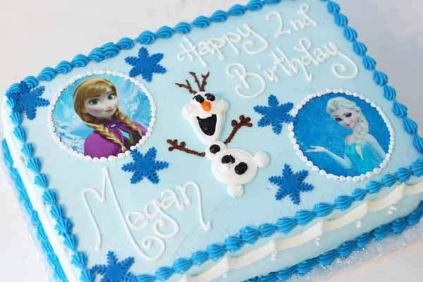frozen photo image olaf cake