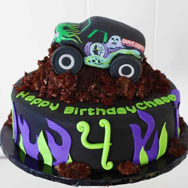 gravedigger monster truck cake
