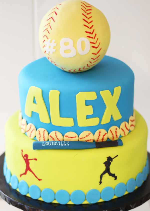 tiered baseball birthday cake
