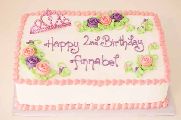 princess tiara birthday sheet cake