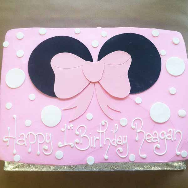 minnie mouse birthday sheet cake