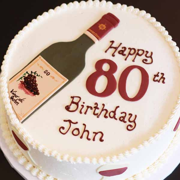 wine bottle round cake