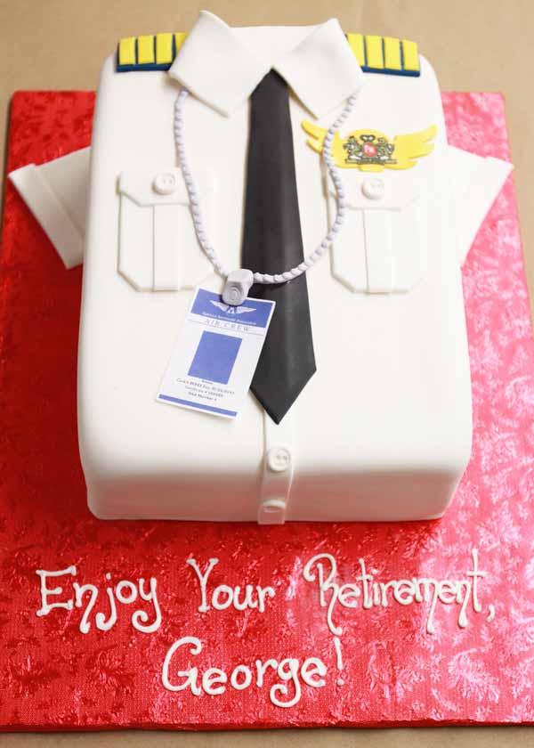 fondant pilot uniform cake