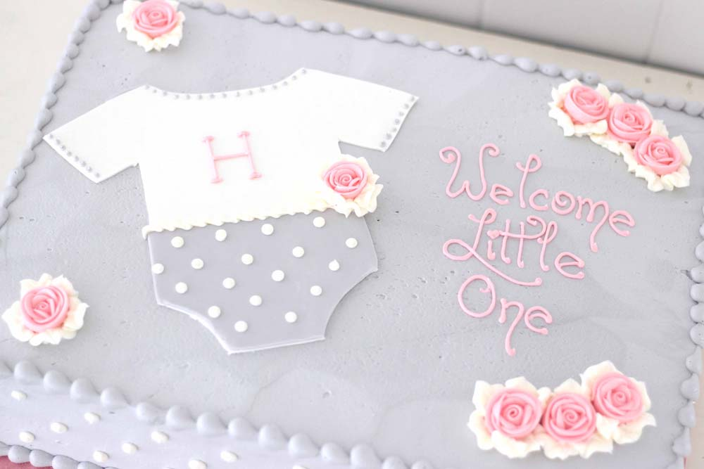 custom baby shower cake from cafe pierrot in sparta nj