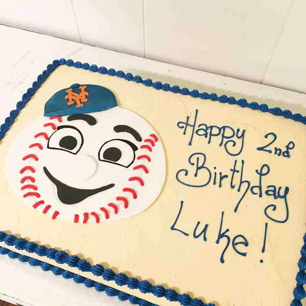 mr mets birthday sheet cake