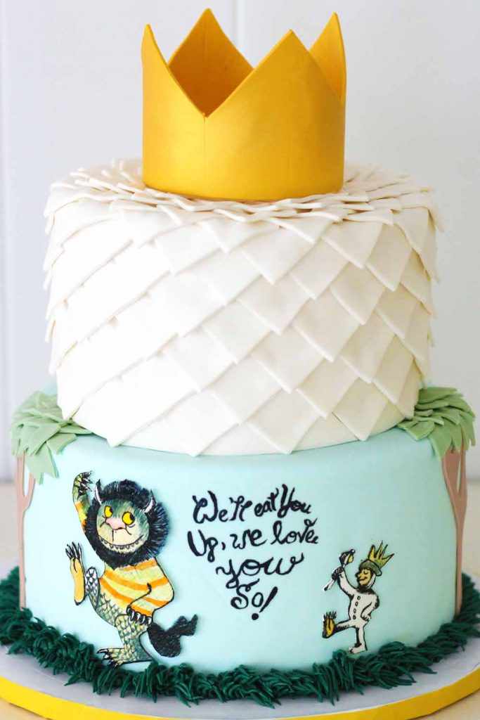 Where the Wild Things Are custom specialty cake in fondant by french bakery in northern new jersey cafepierrot