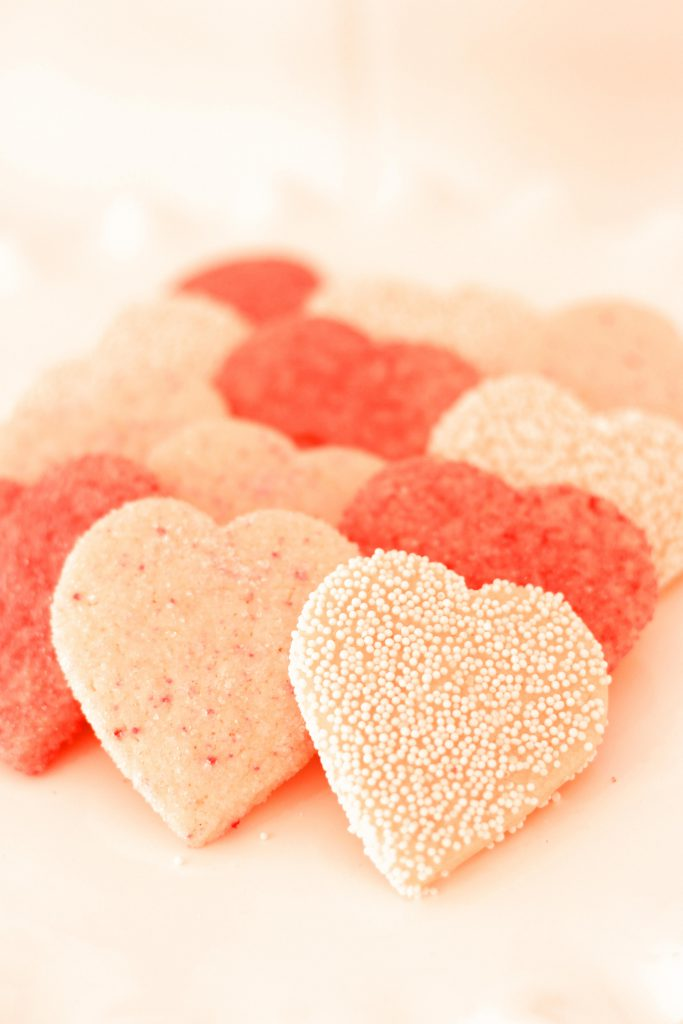 sprinkle heart cookies by french bakery cafe pierrot in sparta nj