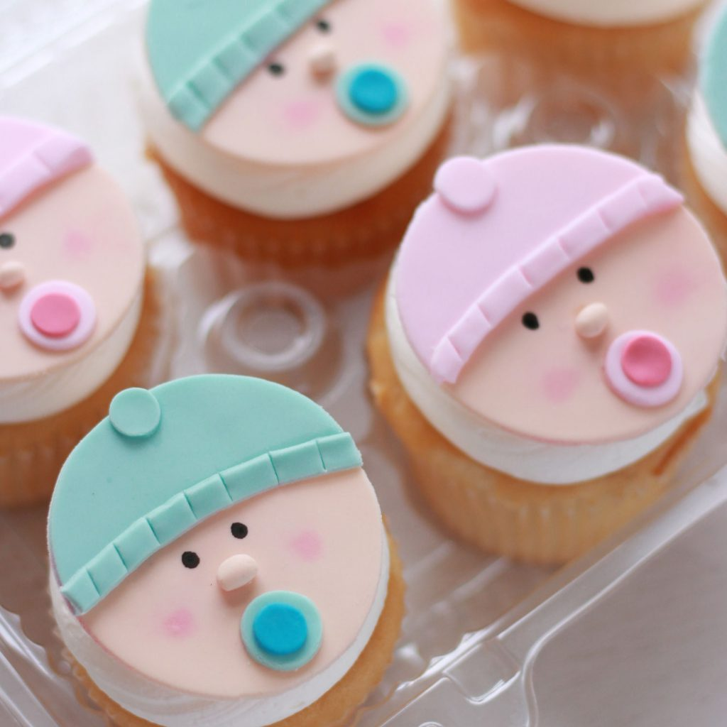 baby shower or gender reveal cupcakes from cafe pierrot in sparta nj