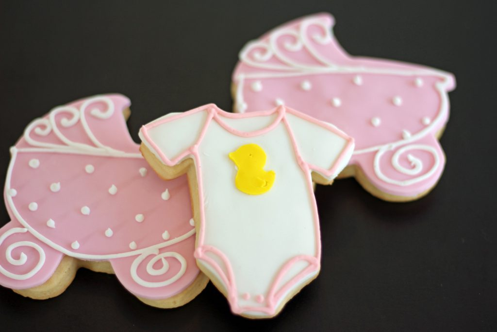 custom onesie cookies from bakery in north jersey