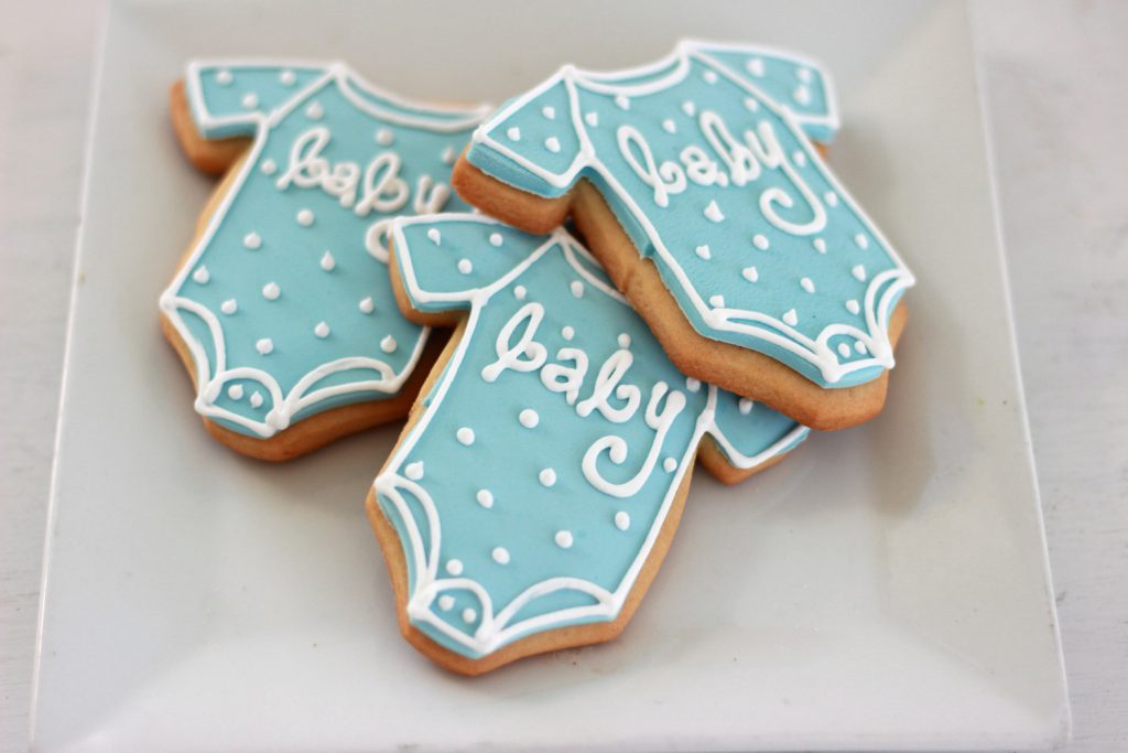 custom cookies for baby shower gender reveal party in nj