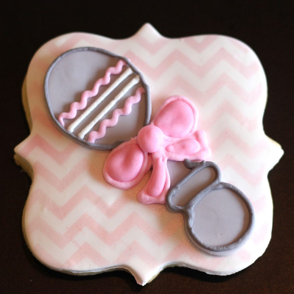 custom rattle cookies for baby shower in nj by french bakery in sparta