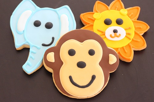 custom jungle or safari cookies for baby shower in nj