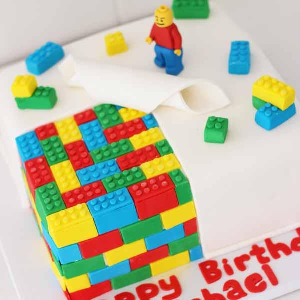 fondant lego cake