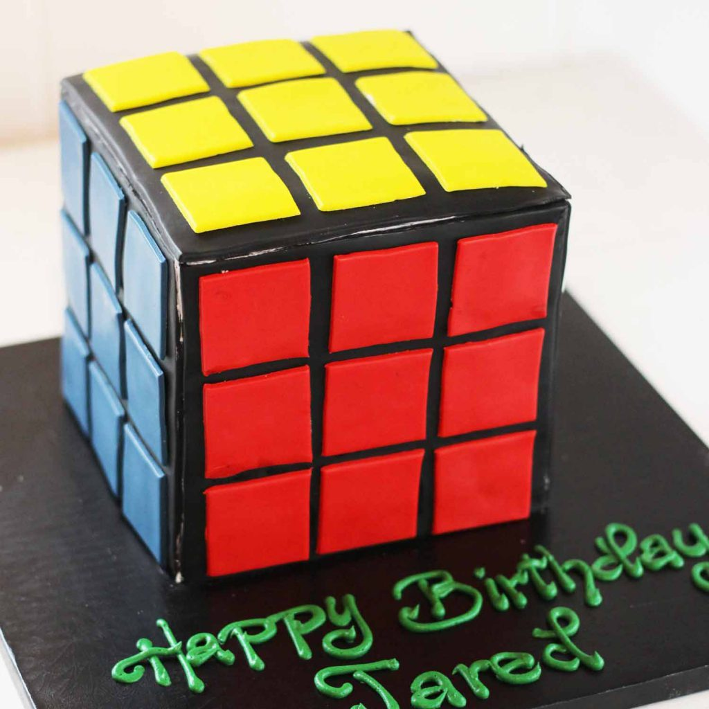 rubik's cube custom cake from french bakery in north jersey