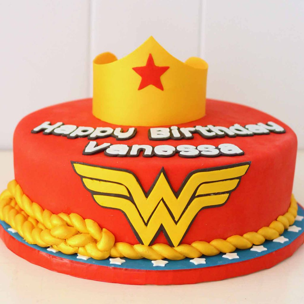 wonder woman custom cake from bakery in north jersey sussex county