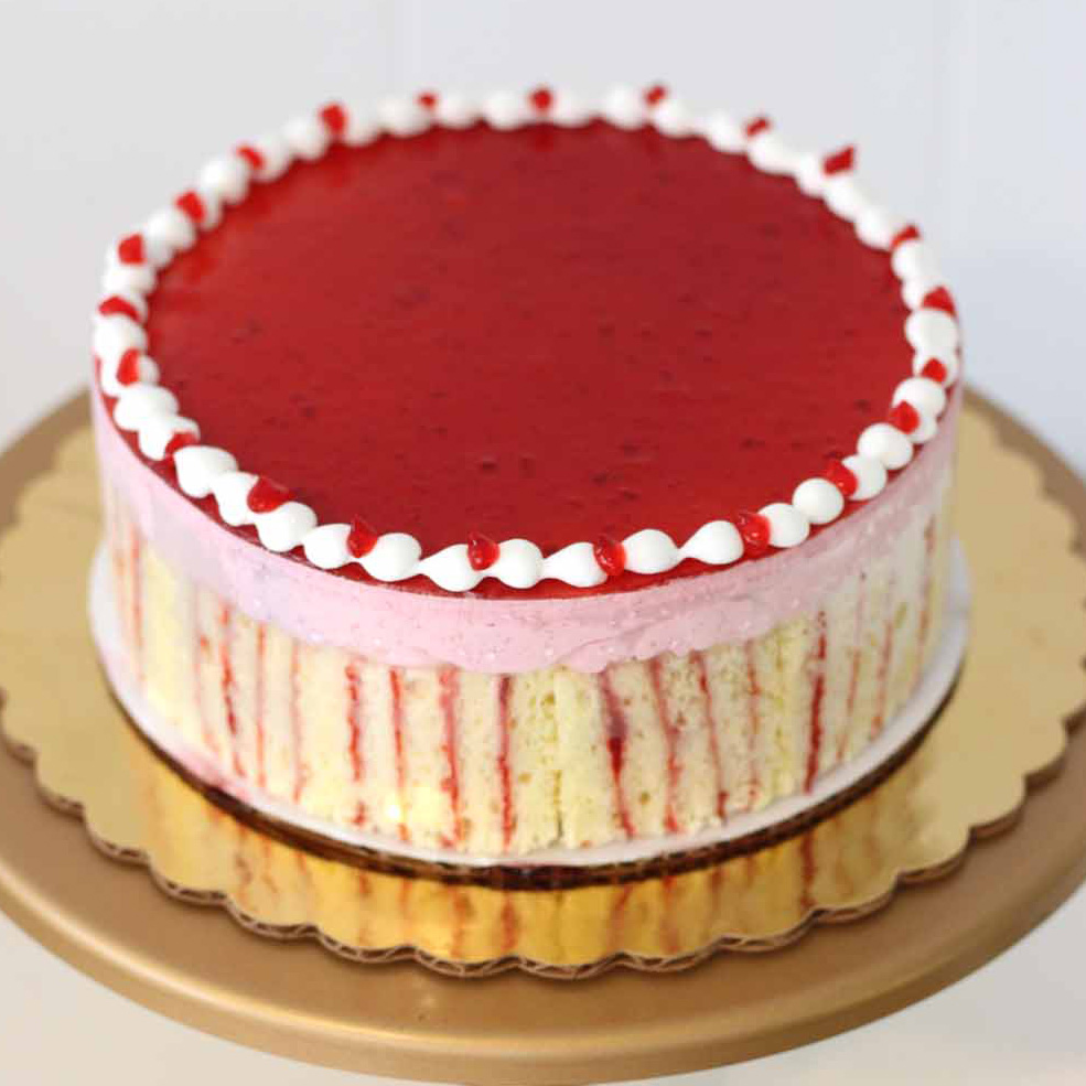 Raspberry Ribbon Cake from French Bakery Cafe Pierrot, New Jeryse